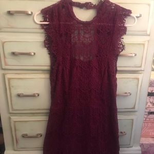 Plum Lace dress.. Free the people
